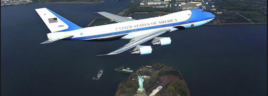 Air force one's transformation over US Presidents.