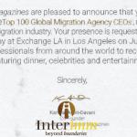 Interimm lọt Top 100 CEO Công ty Di trú hàng đầu Thế giới